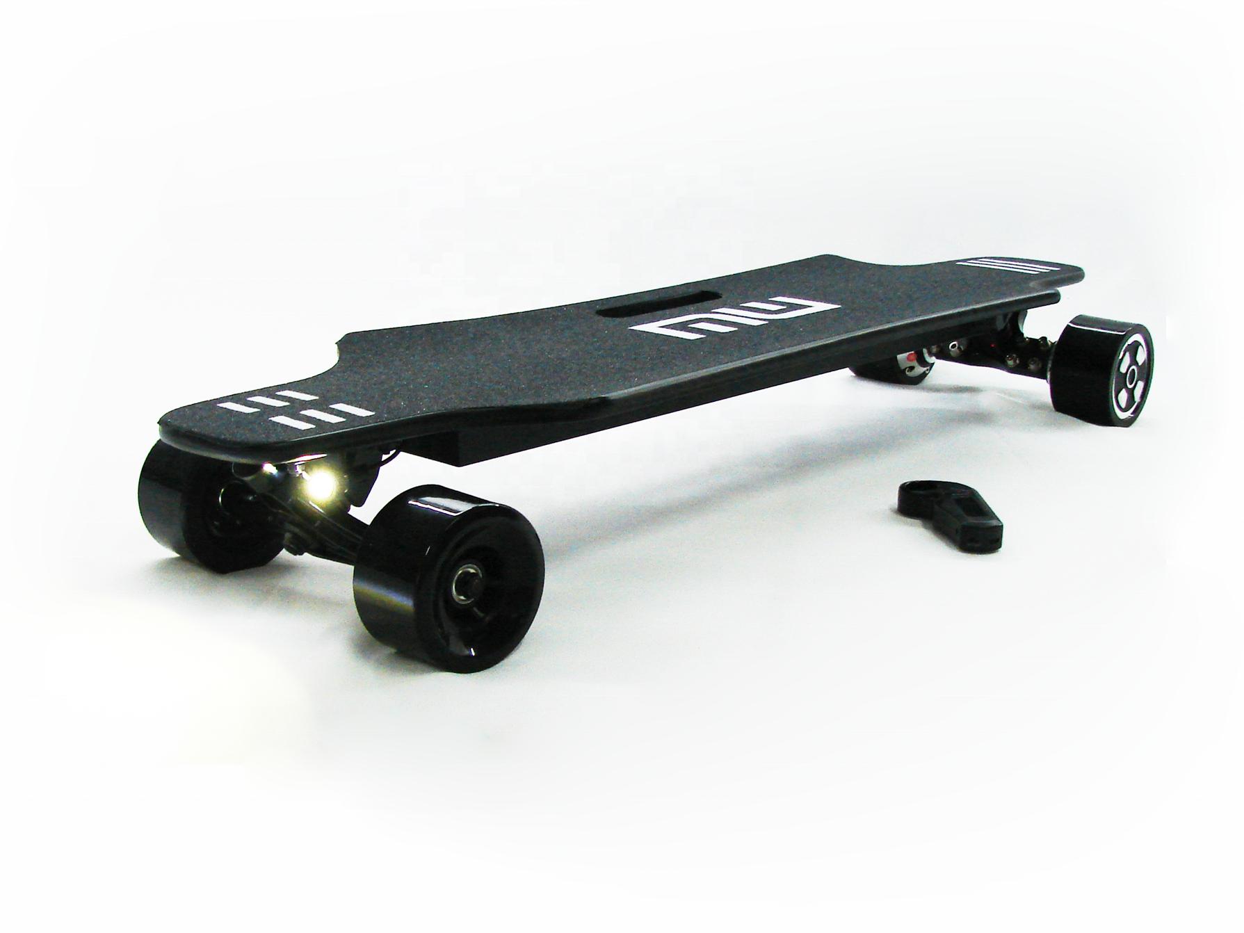 diy fast adult bamboo remote control dual hub motor off-road e longboard electric skateboard 25 mph