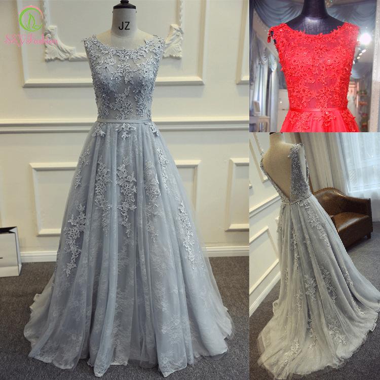 Ssyfashion Long Sleeve Wedding Dresses The Bride Elegant: Aliexpress.com : Buy Vestidos The Bride Dress Elegant Grey