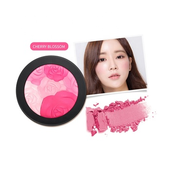 Colorful Private Label OEM ODM 4 Colors Combination Matte And Shimmer Blush On Makeup Blush