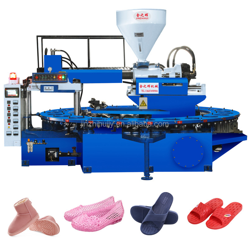 rotary pvc air blowing (pcu) slipper shoe Injection blow Moulding Machine