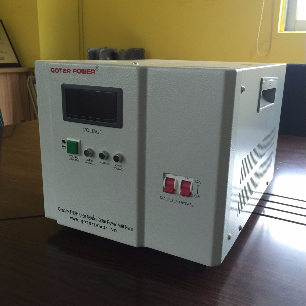 Single Phase 220v AC Automatic 5kva Servo Voltage Stabilizer Price for Household Electrical Appliances
