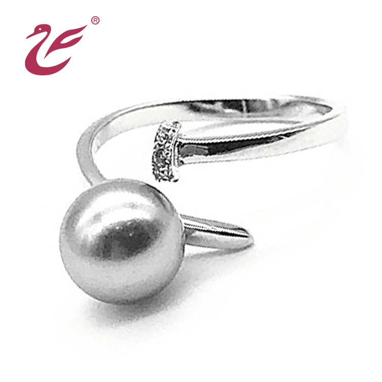 Latest Design Simple Silver Pearl Ring Designs For Girls Buy