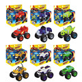 2016 6pcs set Blaze and The Monster Machines Transformation Vehicles Car toys Russian Blaze Crusher Truck