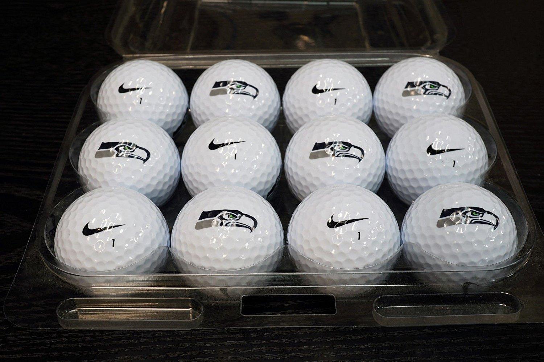 3 Dozen Seattle Seahawks Logo Nike Mix Mint / AAAAA Used Golf Balls