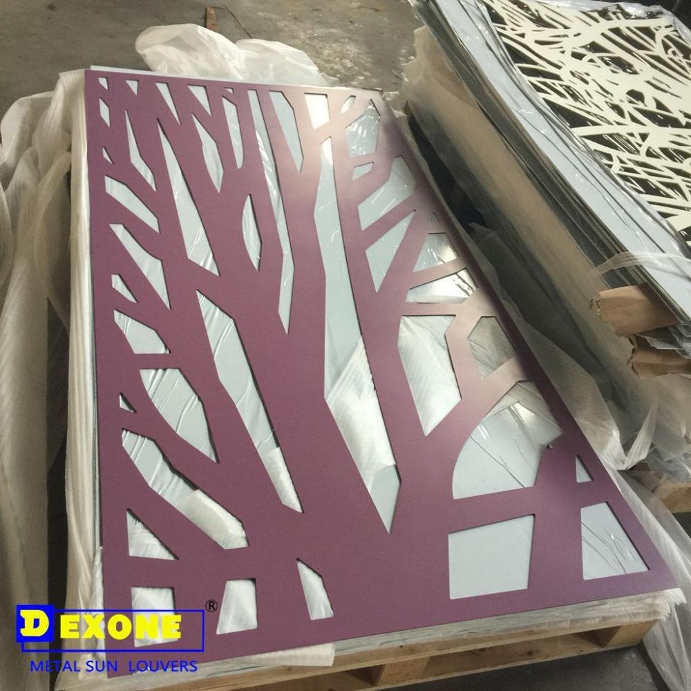 aluminium perfor panneau d coratif pour cran de cl ture. Black Bedroom Furniture Sets. Home Design Ideas