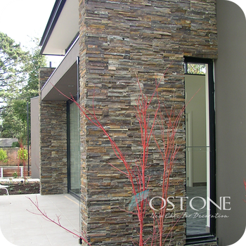 Natural Culture Stone Rust Rough Edge Slate Exterior Wall Cladding