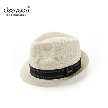 Trilby Straw Hat For Men China Wholesale Paper Fedora Men Straw Hat ... 6f2d9bc1181