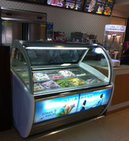 Ice cream freezer showcase ice cream display fridge