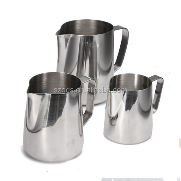 Top quality Frothing Pitcher for Espresso Machines Stainless Steel Milk Frothers Latte Jug