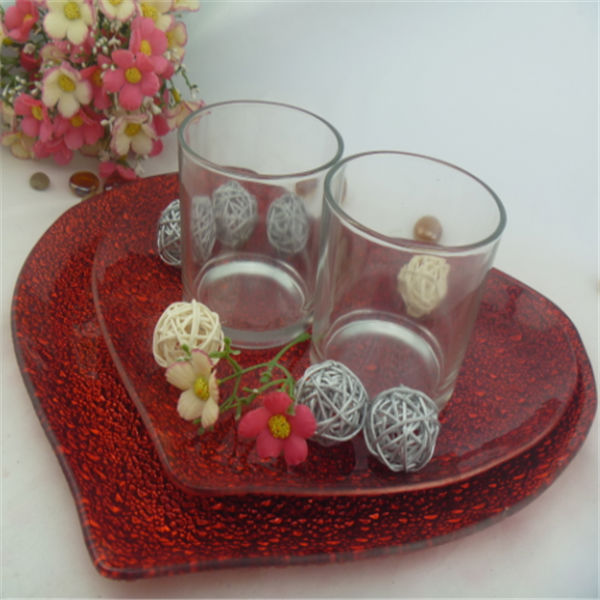 heart shape glass dish glass plate