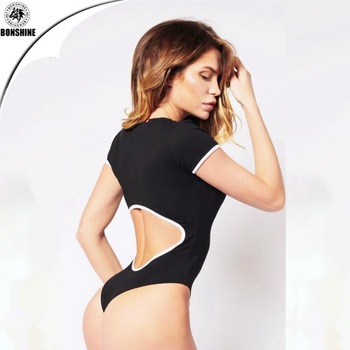 The latest design women's sexy dew waist fitness jumpsuit
