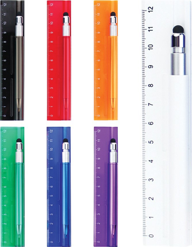 newest desing touch ball pen with ruler BP-7244D
