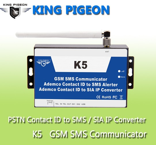 GSM PSTN convert Ademco Contact ID Control panel to SMS alert and SIA IP over GPRS network K5