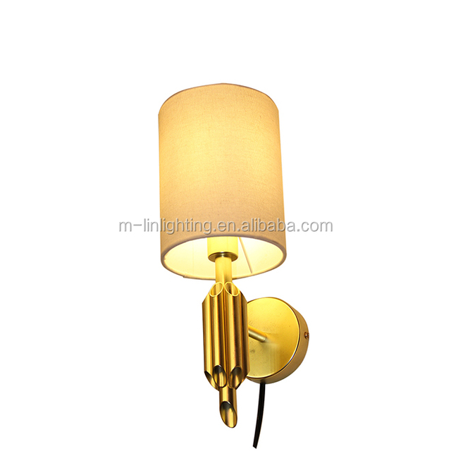 Light shades wall lights source quality light shades wall lights vintage brass holder wall lamp mounted light with fabric shade aloadofball Images