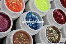30 Glitter Paillette UV Gel with Mix Glitter Paillette for UV Nail Art Tips Extension Decoration