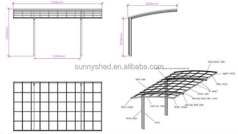Parasol Para El Barco Y Canopy Para Cobertizo Coche Con