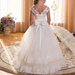 Fancy Flower Long Teenagers Dresses Girl Children Party Clothing Kids Evening Formal Dress For Bridesmaid Wedding Y11063