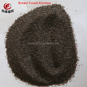 Emery Paper Raw Material Brown / Black Fused Alumina Sand And Powder