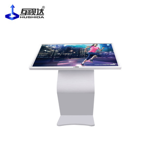 32 multi point Android indoor stand horizontal touch screen interactive LCD digital information kiosk
