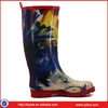 Wellington Waterproof Rain Boots, Women Pull-on Handles Synthetic