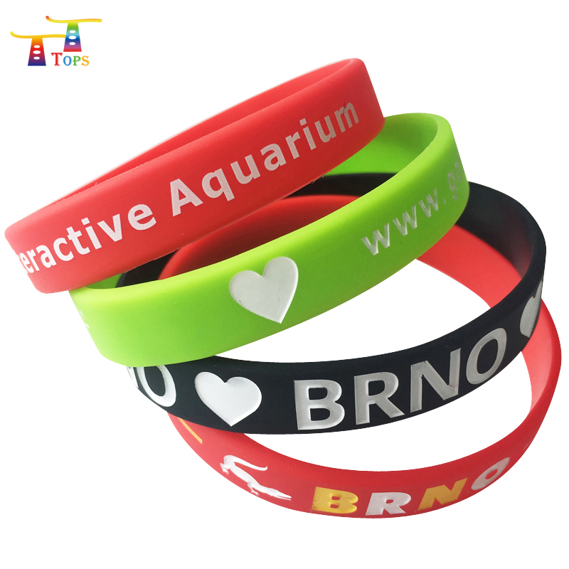 wholesale GYM sports wristband maker club paarty festival custom printed brand name logo soft rubber silicone bracelets