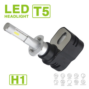 EXTRA SMALL SIZE H1 TURBO Turbine T5 Automotive LED Headlight 60W 9600LM CSP Y19 LED CHIPS All-in-one External Driver WHITE