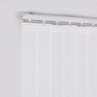 "3.5"" Customized 89mm Economy PVC Vertical Mini Window Shades & Blinds"