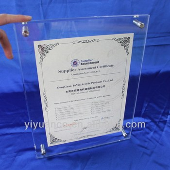 Manufacturing Wall Mounted Acrylic Photo Frames,Plexiglass Photo ...