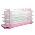 RH-HSXH06 1000*1000*1500mm pink color washing and cosmetic shelf