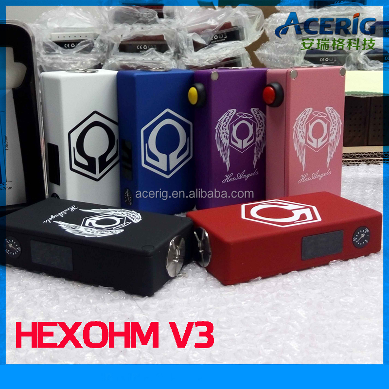 New arrive 180w HEXOHM BOX MOD/ HEXOHM v3 BOX MOD with 5 colors in stock