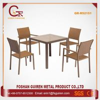 Batch Manufacturing Graceful round wicker table with umbrella