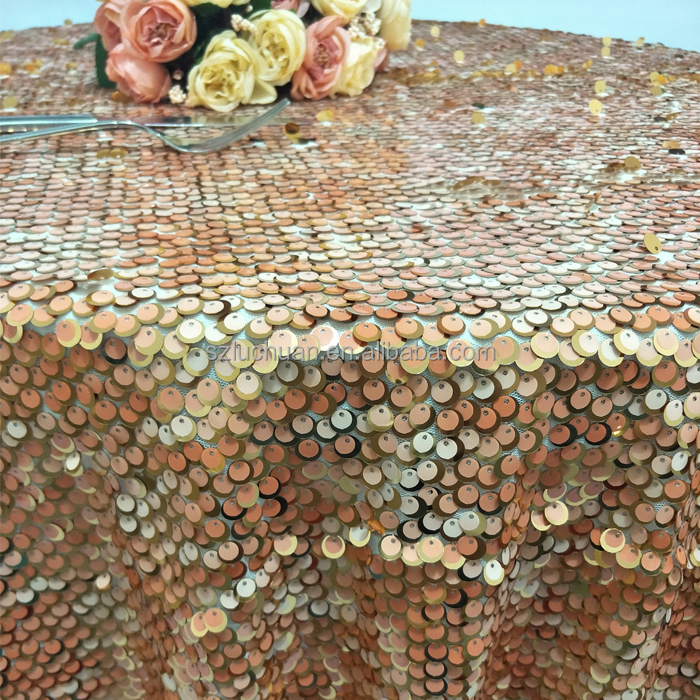 Newest Style Indian Wedding Beaded Sequin Round Table Cloth Covers