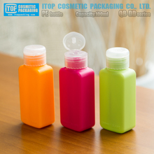 QB-DD fancy colorful flat shape matte opaque 100ml hdpe plastic body lotion squeeze bottle design