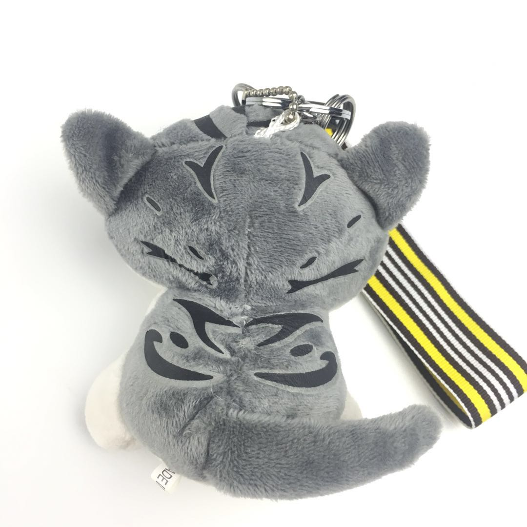 Cat key chain keychain leather in keychains china