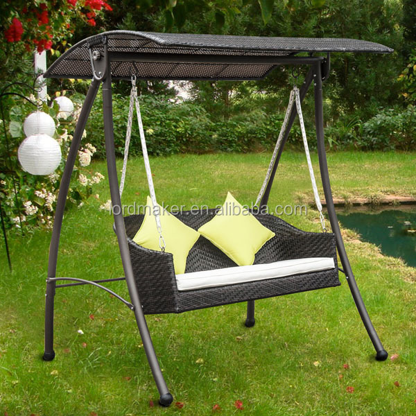 Indoor wooden swings indian patio iron two seat swing set for Indoor swing seat