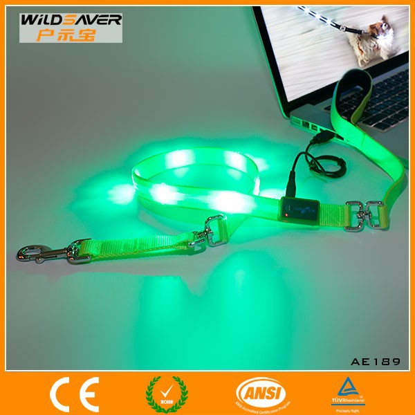 LED Retractable Dog Lead