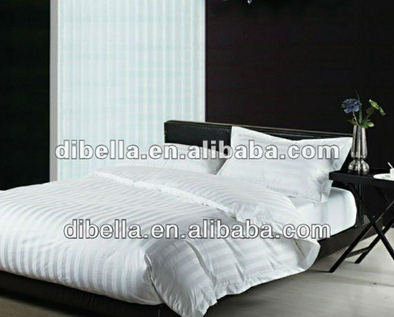 High quality airjet cotton Textile bedding fabric for star hotel in stripe style