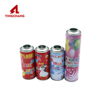Hot Sale 250ml Empty Refillable Aerosol Spray Can for snow spray/air freshener
