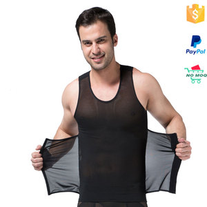 Wholesale breathable black slimming girdle body shaper for men walmart