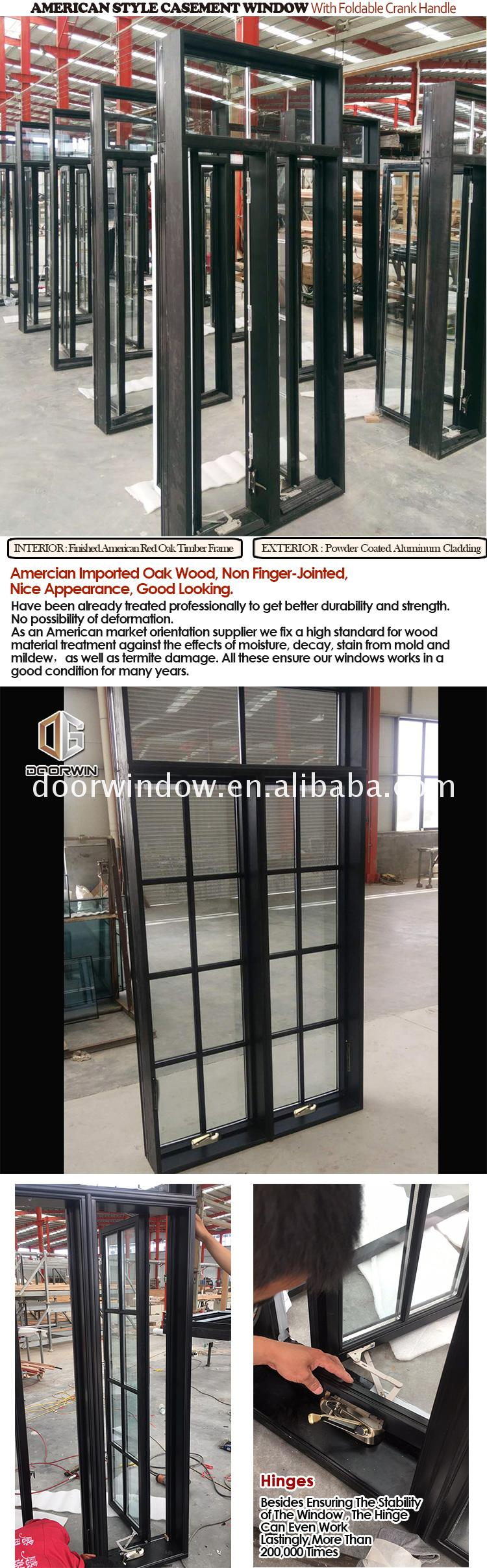 Wood composite casement window clad windows