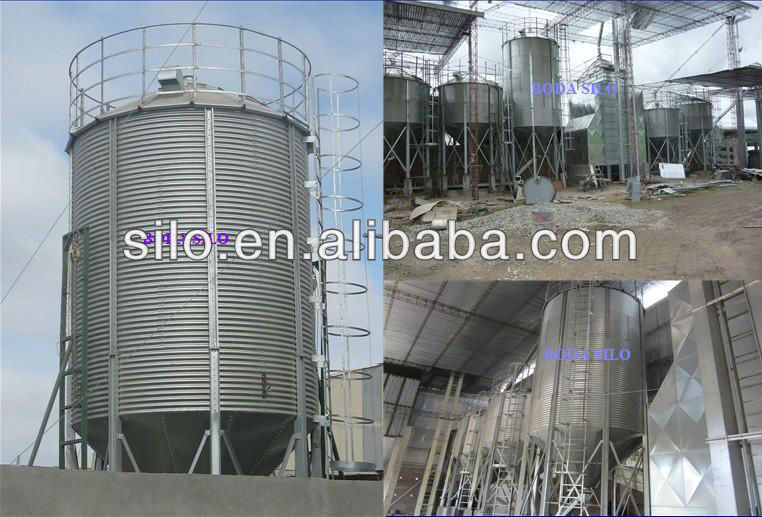 Small metallic feed steel silos for sale in China selling on competitive price