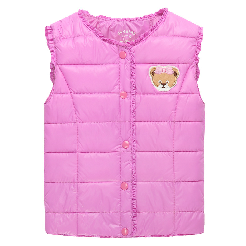 Winter Autumn Warm Coats Children Clothing Kids Boys Waistcoat Candy Colors Girls Vest Baby Top Clothes Ropa Ninas 2015 Invierno