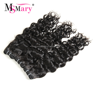 Ms Mary Water Wave Wholesale Virgin Indian Hair Weave Bundles Raw Unprocessed 100% Indian Human Hair Weft