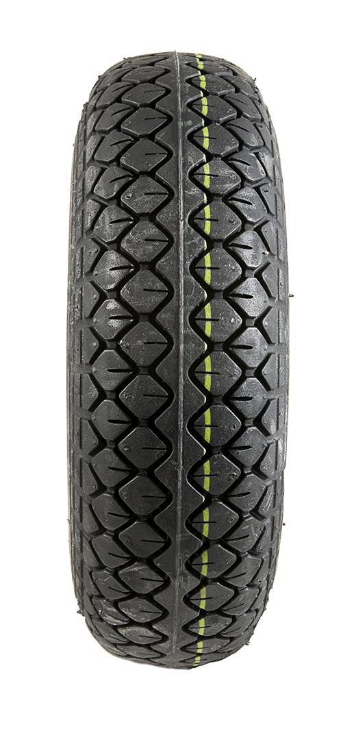 2 Black Solid Block Tread Mobility Scooter Tyres 330 x 100 (4.00-5)