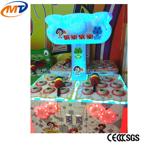 New Happy Double Hit Frog Kids Electric game machine indoor game