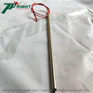 2 wire red single heating tube 240v 800w cartridge heater element
