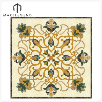 floor top medallion marble mosaic products crop square art tile decoration stone shape