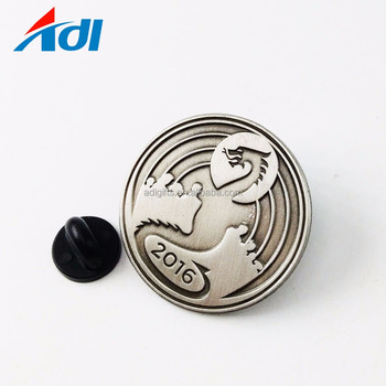 Manufacturers China Custom 3d metal lapel pins without color