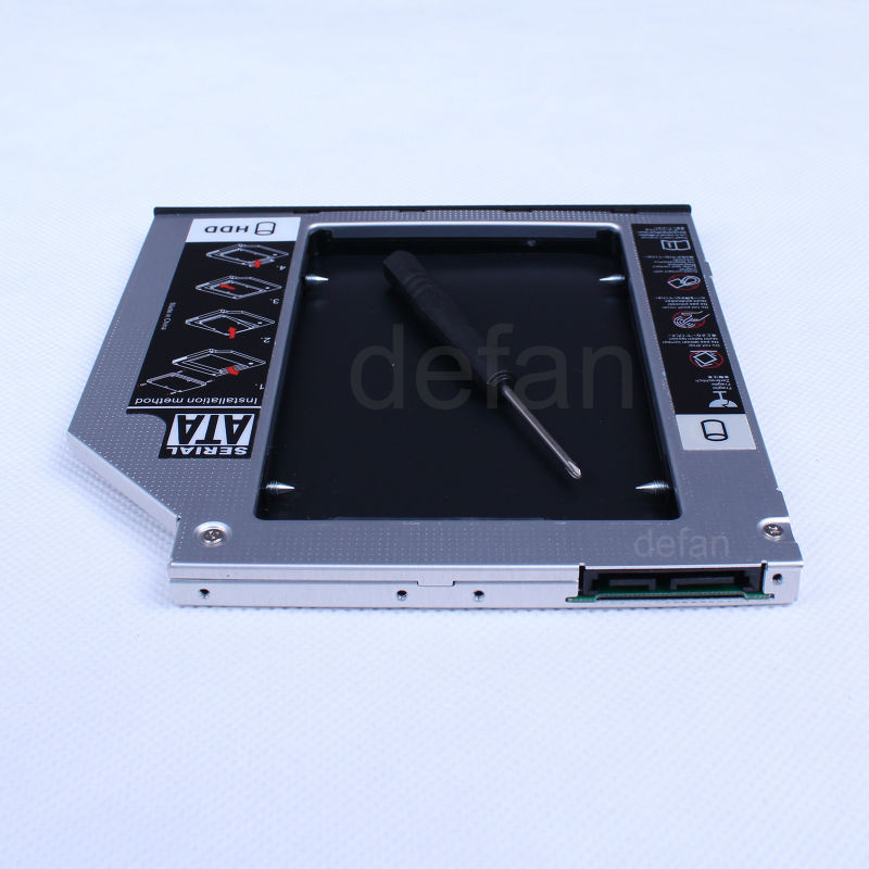 SATA 2nd Hard Drive Laptop HDD External Case For HP EliteBook 2570p 2560p 2530p GU40N GU60N