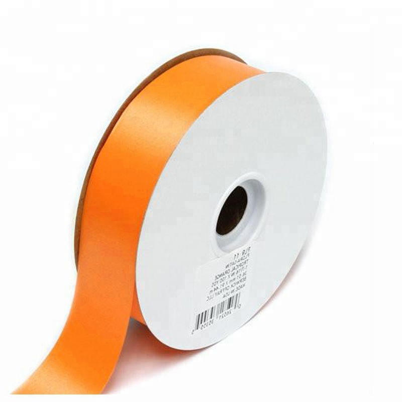 High Quality 100 Red Polyester Single Face Oem Satin Ribbon